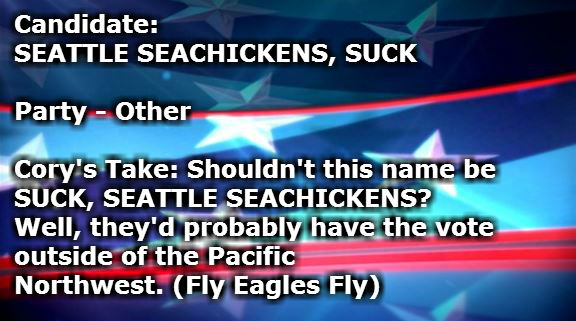 SEATTLE SEACHICKENS SUCK